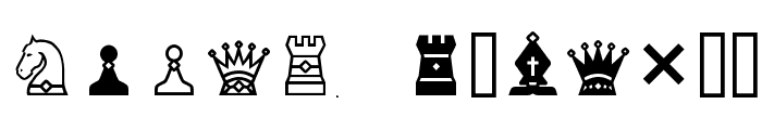 Chess-7 Font LOWERCASE