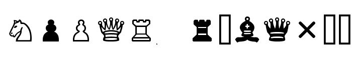 Chess Cases Font LOWERCASE