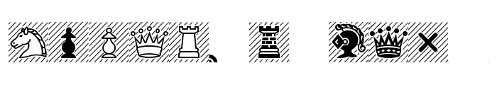 Chess-Condal Font UPPERCASE