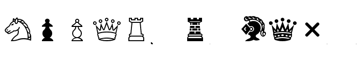 Chess-Condal Font LOWERCASE