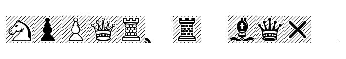 Chess-Leipzig Font UPPERCASE