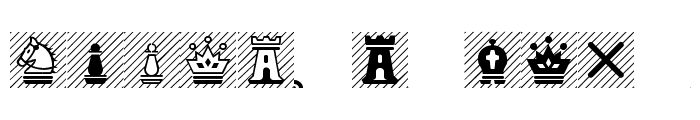 Chess-Magnetic Font UPPERCASE