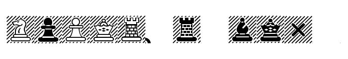 Chess-Maya Font UPPERCASE
