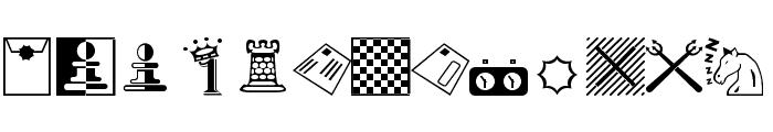 Chess-Miscel Font UPPERCASE