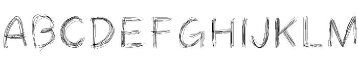 Cheveuxdange Font UPPERCASE