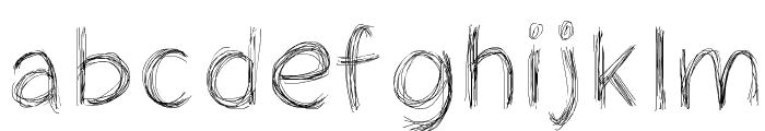 Cheveuxdange Font LOWERCASE