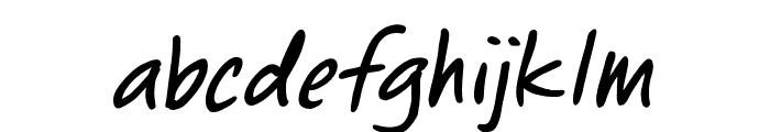 ChewedPenBB-Italic Font LOWERCASE