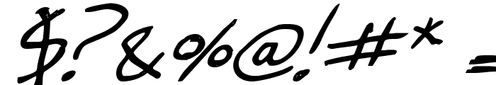 Cheyenne Hand Bold Italic Font OTHER CHARS