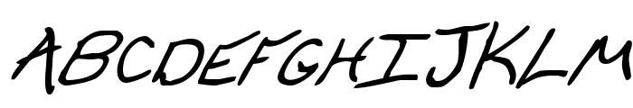 Cheyenne Hand Bold Italic Font UPPERCASE