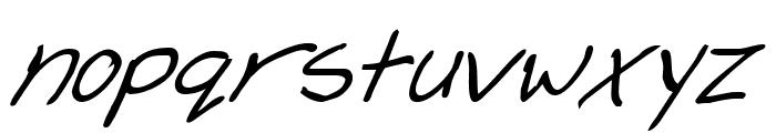 Cheyenne Hand Bold Italic Font LOWERCASE