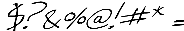 Cheyenne Hand Italic Font OTHER CHARS