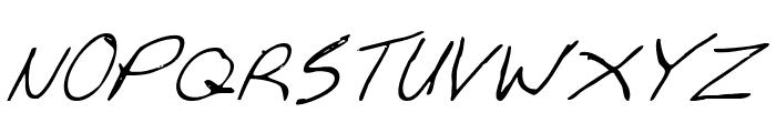 Cheyenne Hand Italic Font UPPERCASE