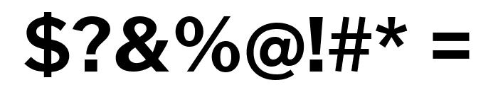 Cheyenne Sans Bold Font OTHER CHARS