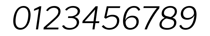 Cheyenne Sans ExtraLight Italic Font OTHER CHARS