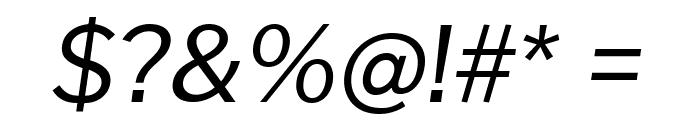 Cheyenne Sans Italic Font OTHER CHARS
