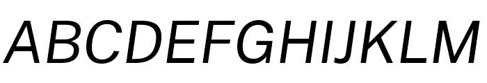 Cheyenne Sans Italic Font UPPERCASE