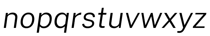Cheyenne Sans Light Italic Font LOWERCASE