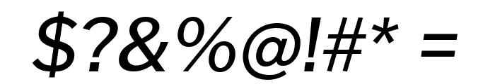 Cheyenne Sans Medium Italic Font OTHER CHARS