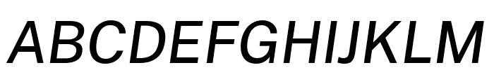 Cheyenne Sans Medium Italic Font UPPERCASE