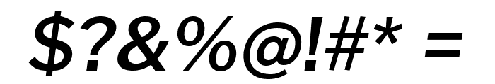 Cheyenne Sans SemiBold Italic Font OTHER CHARS