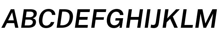 Cheyenne Sans SemiBold Italic Font UPPERCASE
