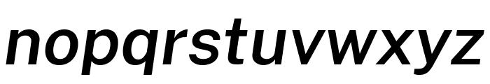Cheyenne Sans SemiBold Italic Font LOWERCASE