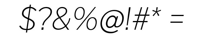 Cheyenne Sans Thin Italic Font OTHER CHARS