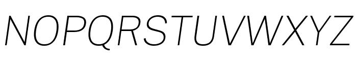 Cheyenne Sans Thin Italic Font UPPERCASE