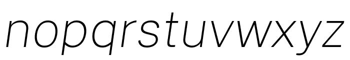 Cheyenne Sans Thin Italic Font LOWERCASE
