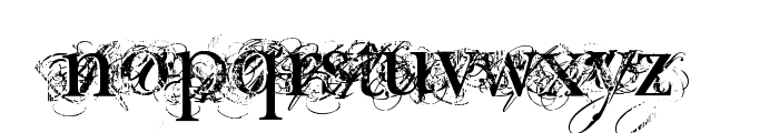 Chic decay Font LOWERCASE