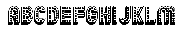 Chicago 3D Regular Font UPPERCASE