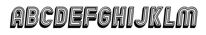 Chicago Bright Neon 3D Italic Font LOWERCASE