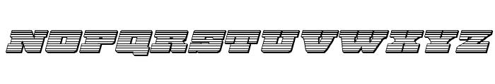 Chicago Express Chrome Italic Font UPPERCASE