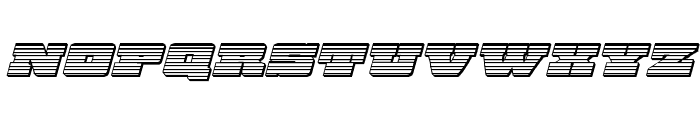 Chicago Express Chrome Italic Font LOWERCASE