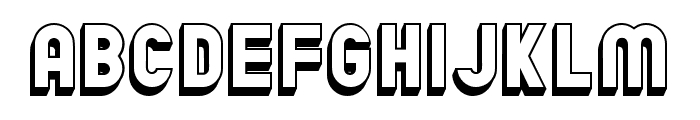 Chicago Flat 3D Regular Font LOWERCASE