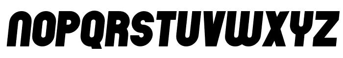 Chicago Flat Italic Font UPPERCASE