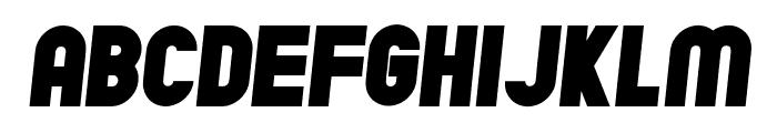Chicago Flat Italic Font LOWERCASE