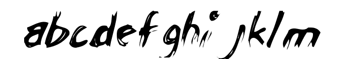 ChickenScratch AOE Font LOWERCASE