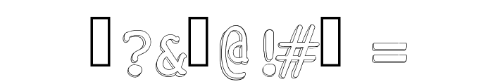 Chickfactor Font OTHER CHARS