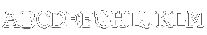 Chickfactor Font UPPERCASE