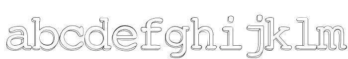 Chickfactor Font LOWERCASE