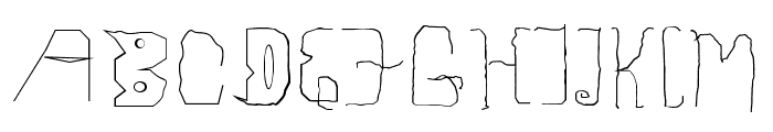 Childhood Thin Font UPPERCASE
