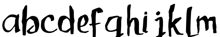 Childrenalien-Regular Font LOWERCASE