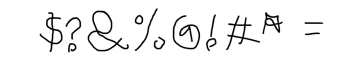 Child's Handwriting Font OTHER CHARS