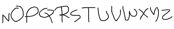 Child's Handwriting Font UPPERCASE