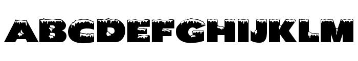 Chilled Regular Font UPPERCASE
