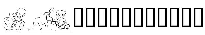 Chilluns Font LOWERCASE