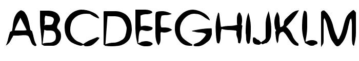 Chinese Brush Font UPPERCASE