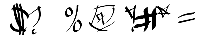 Chinese Calligraphy Font OTHER CHARS