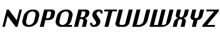 Chiq Reduced Bold Italic Font UPPERCASE